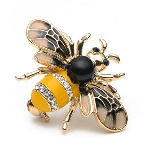 Enamel Bee Brooches